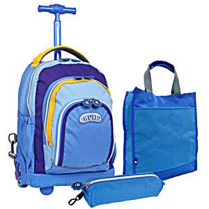 Школьный рюкзак на колесах – ранец JWORLD POLYPOP арт. RBS-16K Neon Blue
