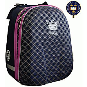 Школьный рюкзак OXFORD 1008-ОХ-51 син/роз кант + мешок для обуви