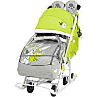 Санки коляска Ника Disney Baby 2 Далматинцы Лимонный