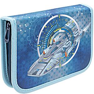 Пенал с наполнением для мальчика Космическое путешествие синий Tiger Family 23 предмета